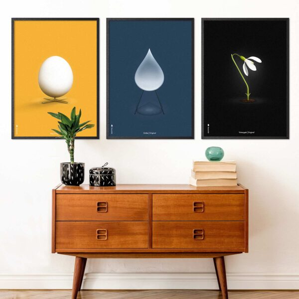 Egg, Snowdrop and Artichoke furniture poster from Brainchild