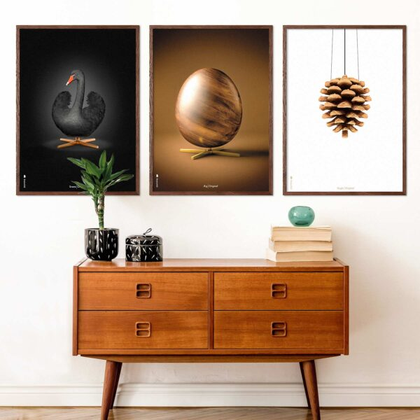 White artichoke, black swan the and egg posters from Brainchild
