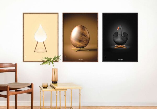 posters from brainchild with the egg, the artichoke and the swan