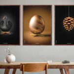 Posters with The Swan, The Egg and The Artichoke from Brainchild