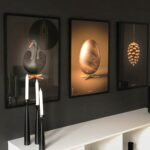 Design posters with The Egg. The Artichoke and The Swan in 50x70 cm.
