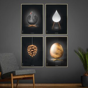 Picture wall, Brainchild 50x70 posters