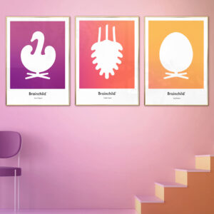 Brainchild design icons, posters picture wall